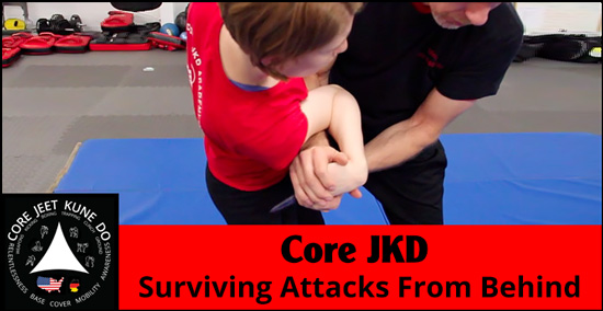 Core JKD video surviving attacks from behind